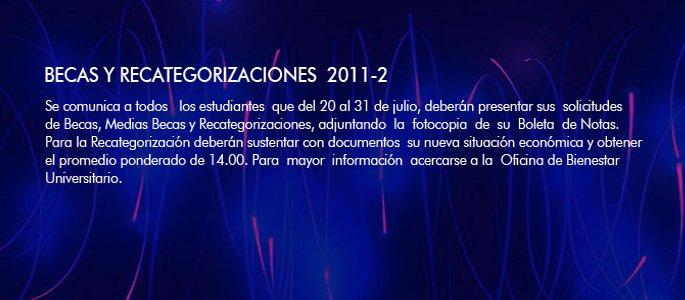 Becas y Recategorizaciones 2011-2