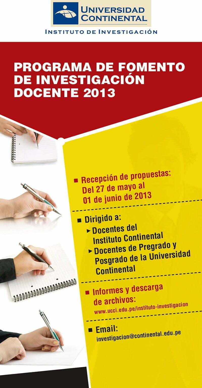 Program de Fomento de Investigacion 2013-2