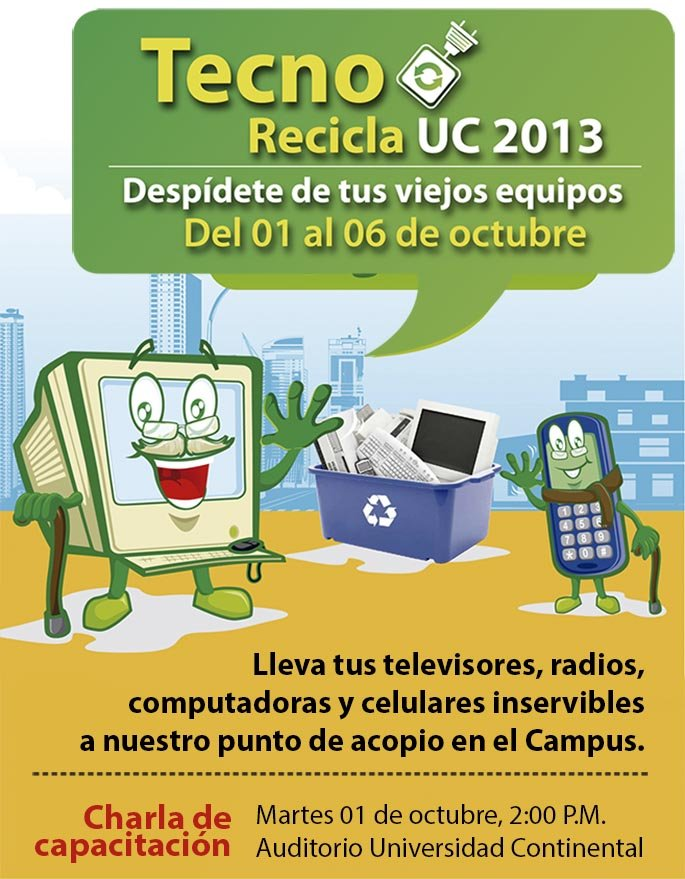 Participa del Tecno Recicla UC 2013