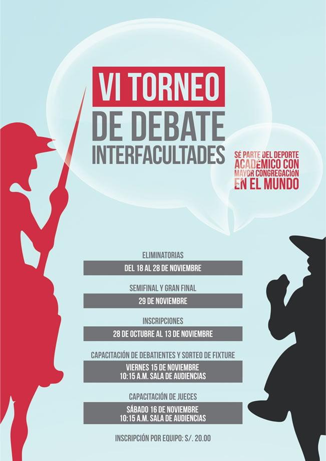 afiche torneo de debate uc