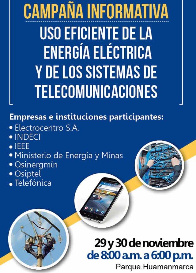 Uso eficiente de la energía eléctrica y sistemas de telecomunicaciones