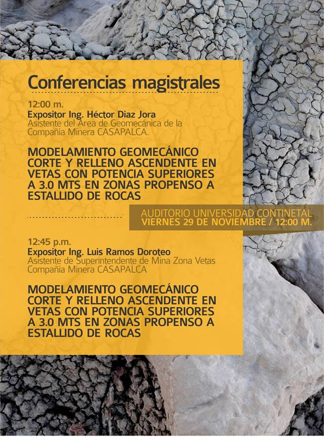 conferencias de ingenieria de minas