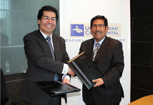 Sergio Arboleda de Colombia y Continental firman convenio