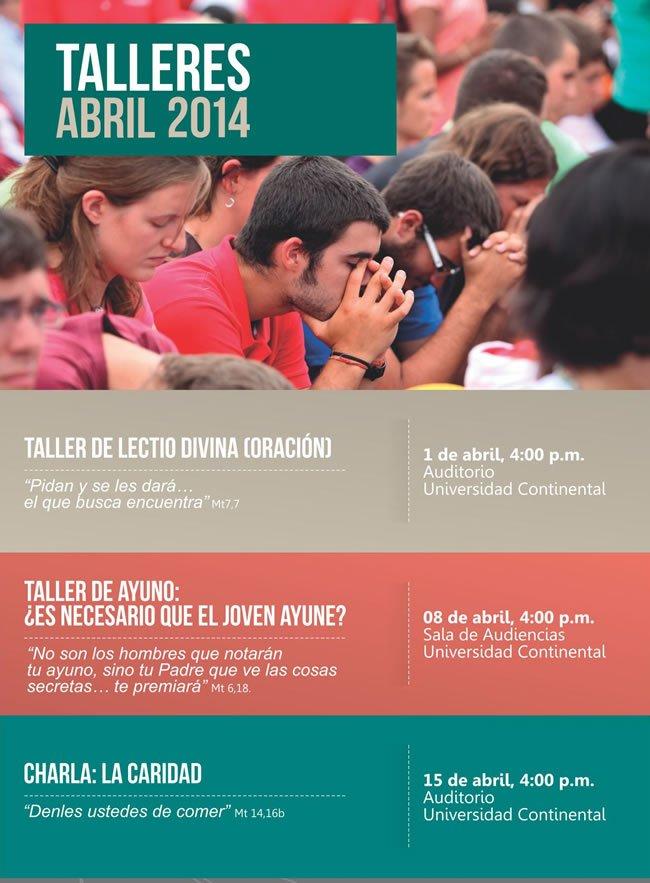 Talleres de abril – Centro de Acción Pastoral Universitaria