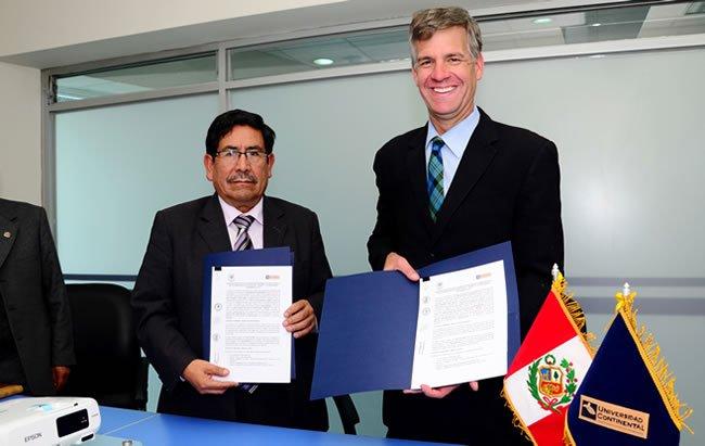 convenio universidad continental y colegio andino