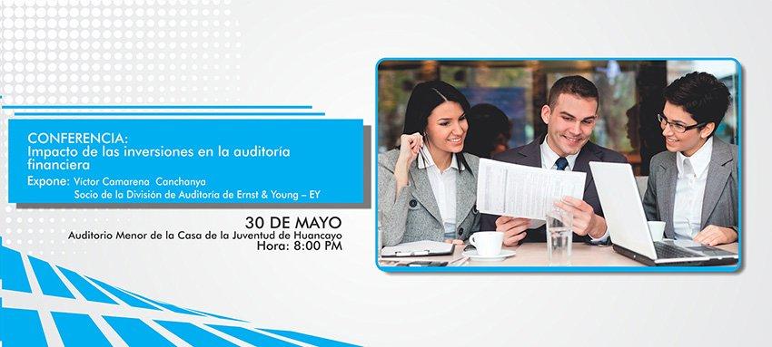 Universidad Continental anuncia realización de conferencia en Impacto de las Inversiones en la Auditoria Financiera