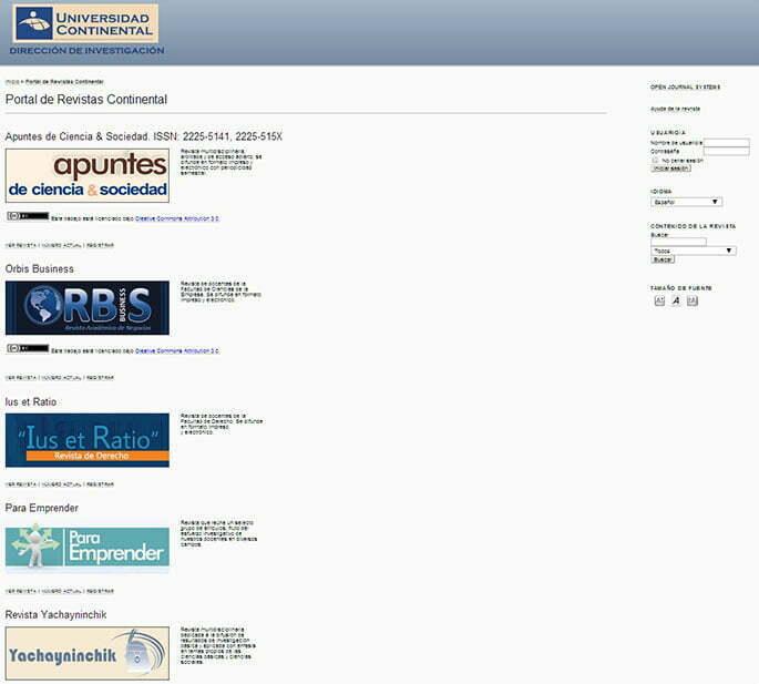 Universidad Continental presenta portal de revistas electrónicas