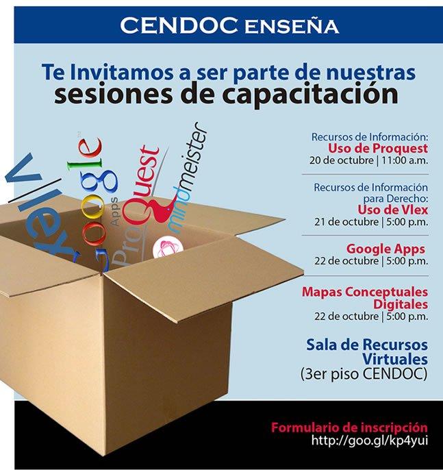 CENDOC actividades octubre final