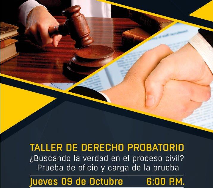 taller probatorio de derecho