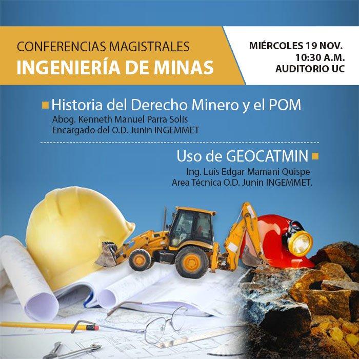 conferencia ingenieria de minas