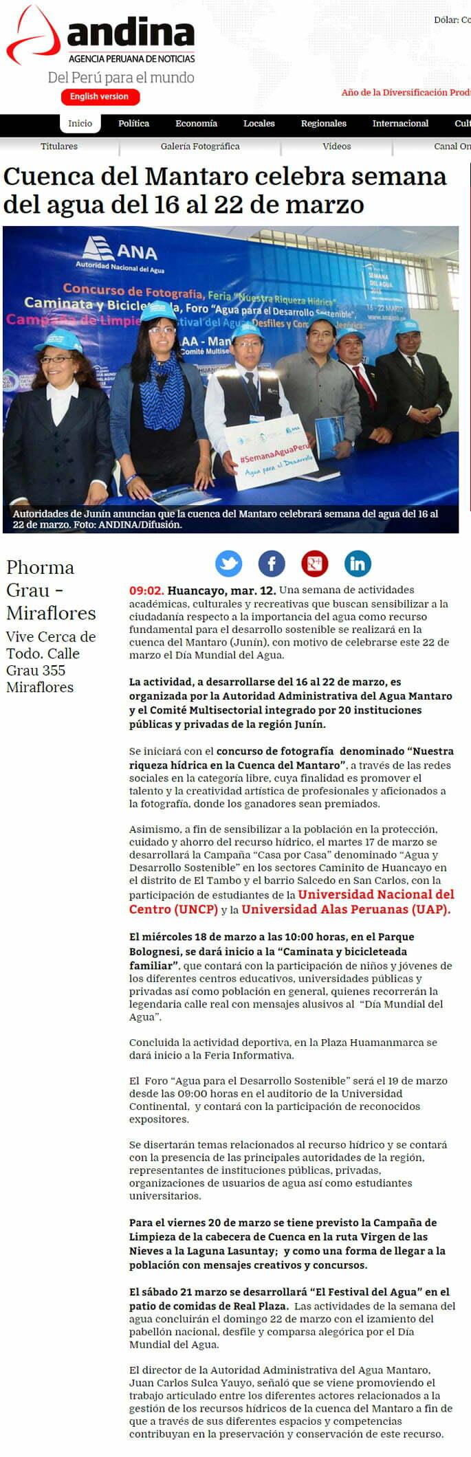 12MAR - CUENCA DEL MANTARO AGUA