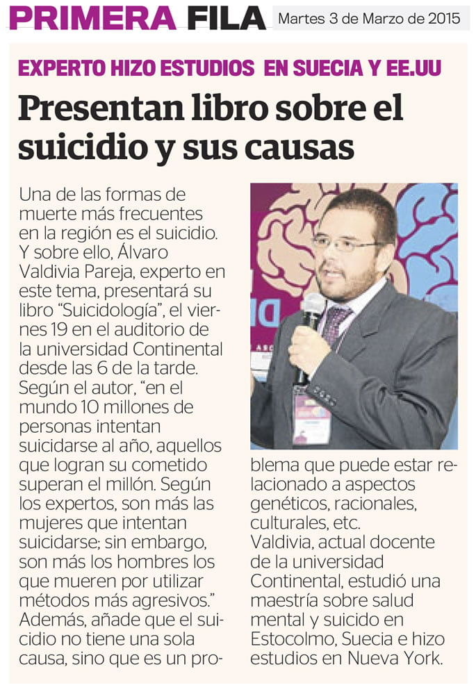 3MAR - PRESENTAL LIBRO SOBRE SUICIDIO