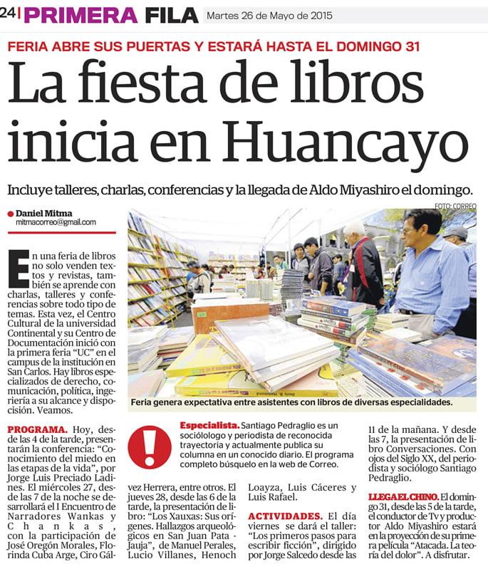 26MAY - LA FIESTA DE LOS LIBROS