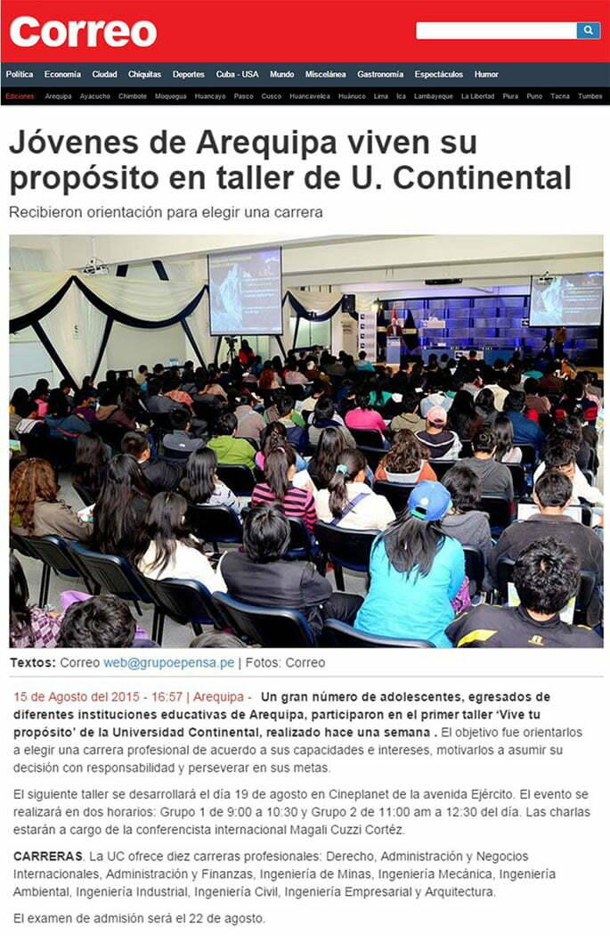 15 AGOSTO- CORREO AREQUIPA - TALLER UC