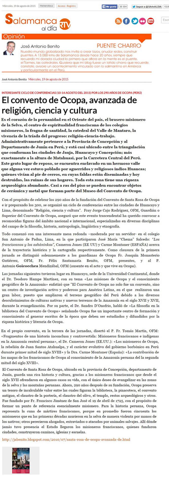 19 AGOSTO - WEB SALAMANCA- ESPAnA - OCOPA 290 AnOS