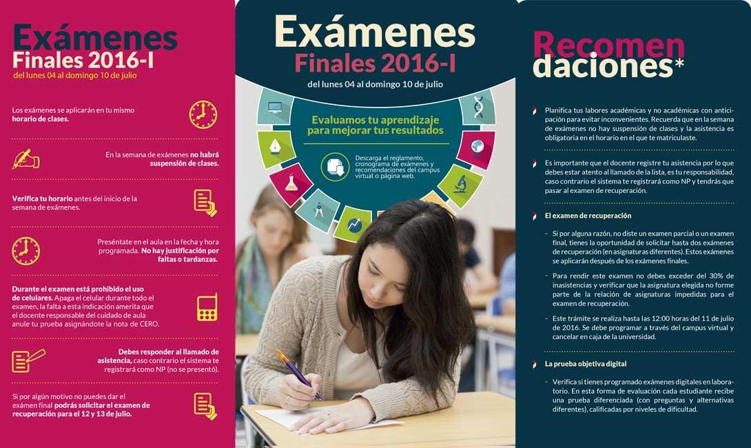 Exámenes parciales 2016 - I