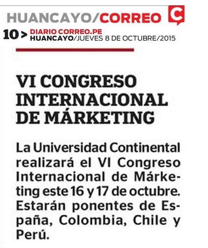 08 OCT- CORREO - VI CONGRESO DE MARKETING B