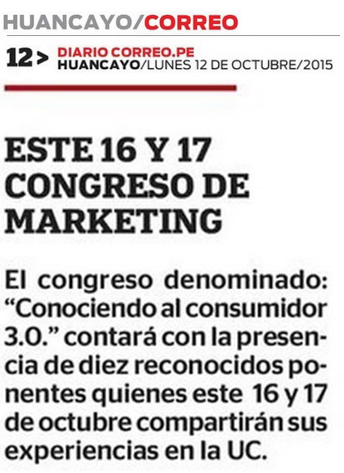 12 OCT - Este 16 y 17 Congreso de Marketing