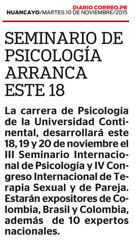 10NOV - III SEMINARIO DE PSICOLOGIA - CONFERENCIA DE PRENSA