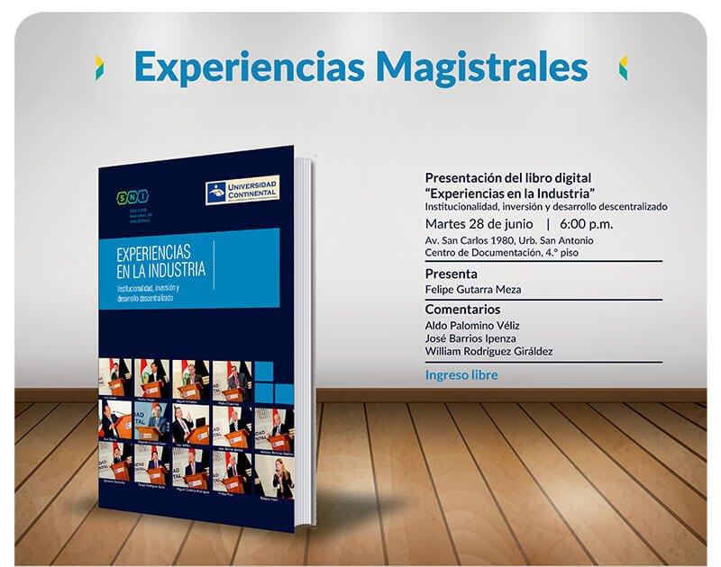Presentación del libro Experiencias magistrales en la industria