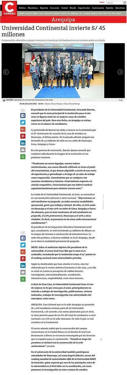 arequipa-universidad-continental-invierte-45-millones