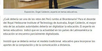 f3a59c9b36b3d Digitalizar la educación peruana es el reto del País rumbo al bicentenario