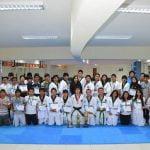 Equipo de estudiantes Continental de Taekwondo.