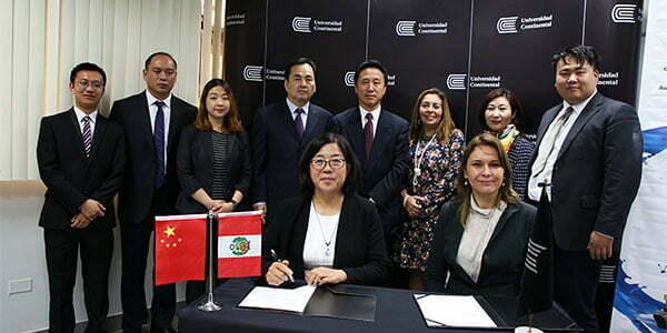 Universidad Continental firma importante convenio con prestigiosas universidades de China