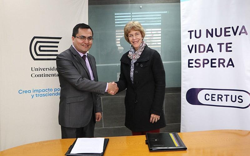 Universidad Continental y CERTUS firman convenio para fortalecer el acceso a la educación superior