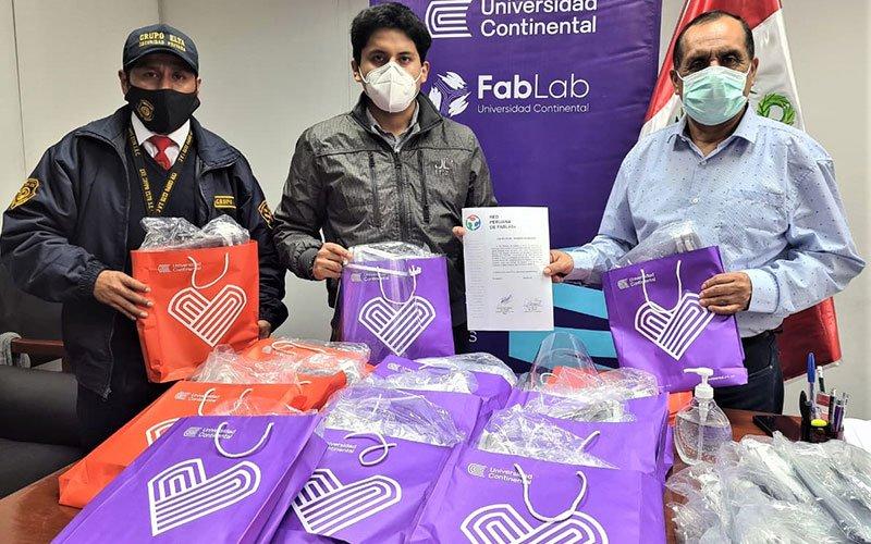 UC dona 300 viseras de protección para personal médico de la región Amazonas