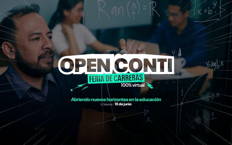 Open Conti modalidad A distancia abre nuevos horizontes en la educación este 17 de junio